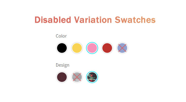 Disabled Variation Swatches Styles